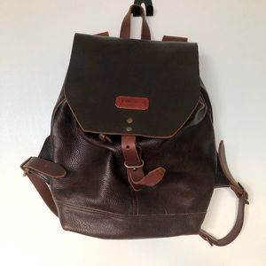 TM1985 Leather Rucksack (Like New- Brown)
